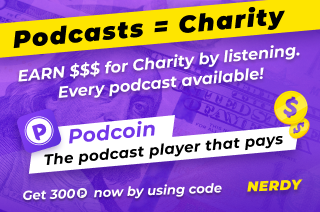 Logo with code NERDY for Podcoin